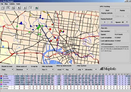 Route Manager Screen
